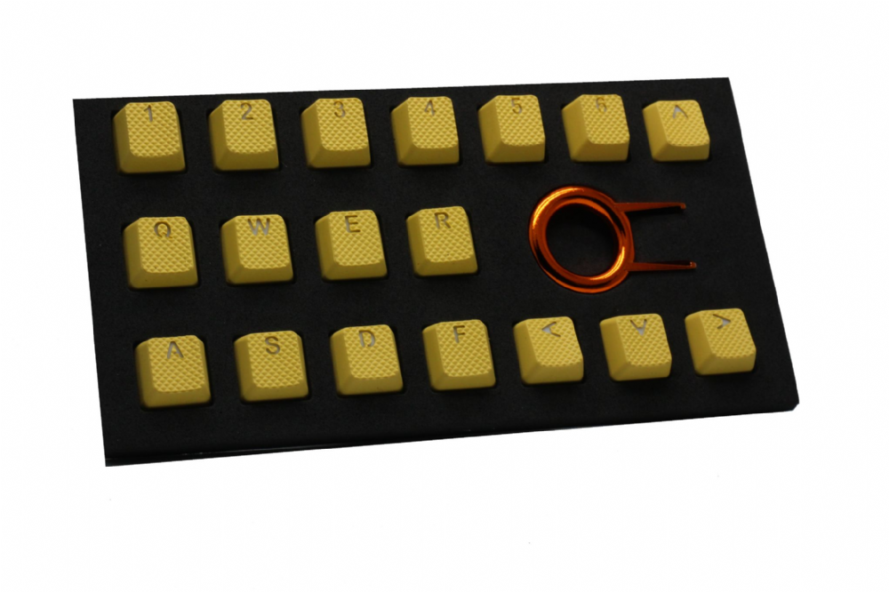 Tai-Hao TPR Rubber Backlit Double Shot 18 Keys - Yellow